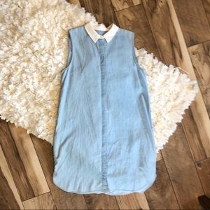 Equipment Lanie Chambray Button Up Mini Dress